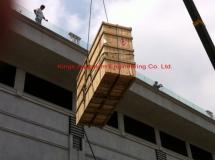山頂住宅4000L亞加力珊瑚缸吊運1
