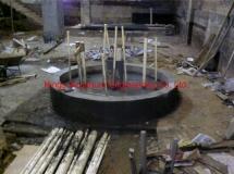 澳門葡京娛樂場內餐廳13700升圓柱缸灌混凝土